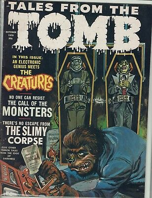 Tales From The Tomb October 1970  Eerie Publications Vf+