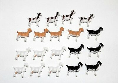 "19 Goats by ERTL, Resin, New, 7/8"" Tall, 1/4"" x 1"", 1:64, for Age 3+"