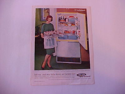 1962 RCA Whirlpool Refrigerator-Freezer--full-color LARGE vintage ad from estate