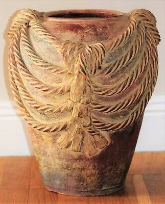 ANTIQUE ITALIAN TERRACOTTA POT - 19th CENTURY - VERY ORNATE AND VERY RARE