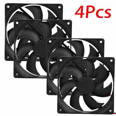4pcs 120mm 120x25mm 1800PRM 12V 4Pin DC Brushless PC Computer Case Cooling Fan