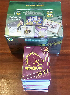 2018 NRL Traders FULL Set of 160 Base Cards + 10 Card Bonus Set