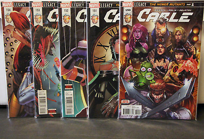 Marvel Comics Cable 150 - 154 Bundle Lot Run Brisson Malin 150 151 152 153 154