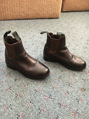 AS NEW BROWN DUBLIN size 3.5 riding Boots (more like a 4)