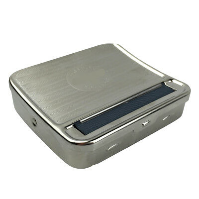 Metal Automatic Cigarette Tobacco Roller Rolling Papers Machine Box Case Cigar