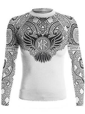 Raven Fightwear Women/'s Harlequin Anarchy Rash Guard MMA BJJ Black