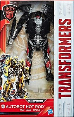 Transformers The Last Knight Autobots Unite Flip /& Change Autobot HOT ROD tr-28