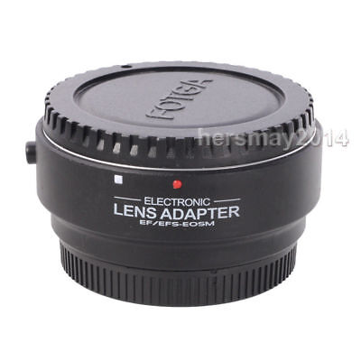 Electronic AF Auto Focus Adapter For Canon EF EF-S Lens to EOS M50 M6 M10 M100