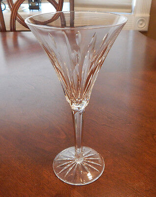 """Waterford Crystal Ardree Pattern Water Goblet Glass (S) 8 1/8"""" Tall Rare! Mint!"""