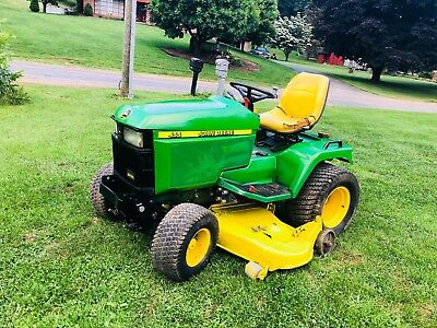 John Deere Diesel 455 60 Inch Ride On Mower Zero Turn Auxiliary Hydraulic Riding