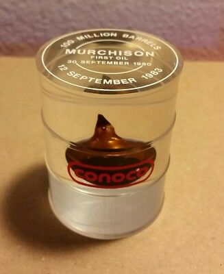 (1) CONOCO 100 Million Barrels Sept. 12th 1983 Paperweight Murchison Field