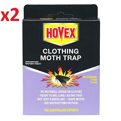 x2 Hovex CLOTHING MOTH TRAPS  Non-Toxic Alternative to Pesticides HOVEX Traps