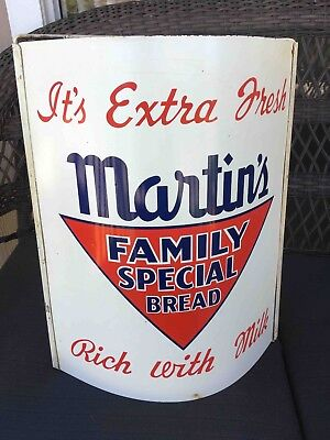 Vintage Martin's Family Special Bread Advertising Hanging String Holder Sign