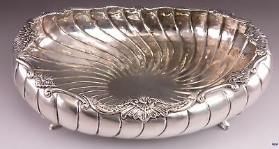 late 1600s/early 1700s European German? Silver Fluted Swirl Footed Bowl