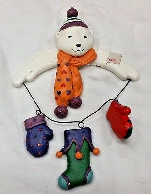 "Christmas Tree ""POLAR BEAR"" 7 INCH ORNAMENT HANGING-HOLDIAY DECORATIONS-DEPT56"