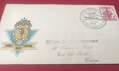 1956 Melbourne Olympics first day covers Nice Condition Hurdling Stamp