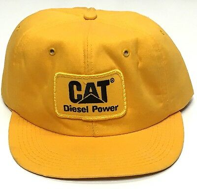 Vtg Made In USA Tonkin Gold Yellow CAT Diesel Power Caterpillar Snapback Cap  Hat 0754564494a2
