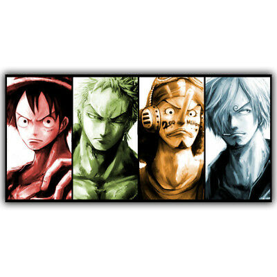 One Piece Poster Popular Classic Japanese Anime Home Decor Silk Poster