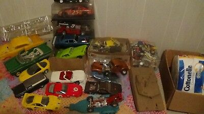 Mixed Brands Large Lot Vintage Model Cars etc. Junk Yard 1/24 1/25 1/16