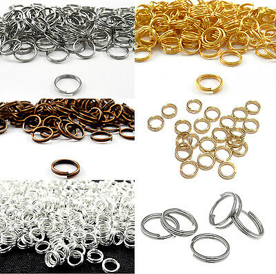 Wholesale Alloy Round Split Rings Double Ring Keyring Finding 4/5/6/8/10/12/14mm