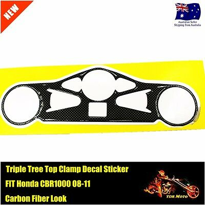 Motorcycle Triple Tree Top Clamp Sticker Decal Fit Honda CBR1000 08-11