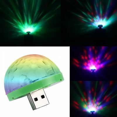 4W USB Mini LED Disco Stage Light Party Club DJ KTV Magic Lamp Ball For Phone E
