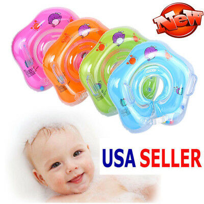 New Inflatable Baby Newborn Infant Neck Float Ring Bath Swim Safe US STOCK