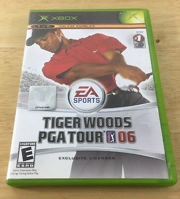 Tiger Woods PGA Tour 06 (Microsoft Xbox, 2005) Complete Tested Fast Shipping