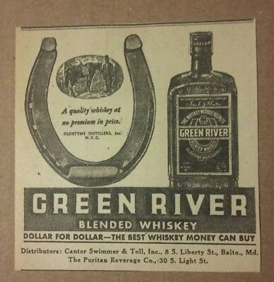 1935 Green River Blended Whiskey Ad
