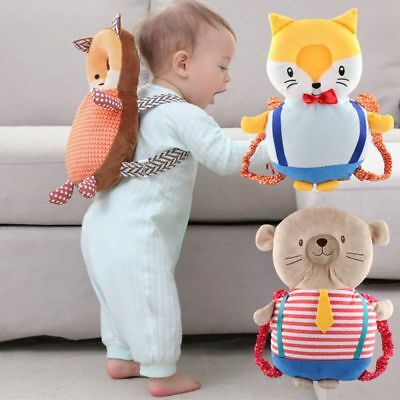 Kids Cute Cartoon Walkers Backpack Safety Adjustable Head Protective Pillow Pad
