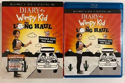 Diary Of A Wimpy Kid The Long Haul Blu Ray Dvd 2 Disc Set + Slipcover Sleeve