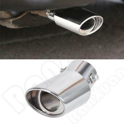 Silver Bend Stainless Steel Car Rear Oval Round Exhaust Pipe Tail Muffler TiP