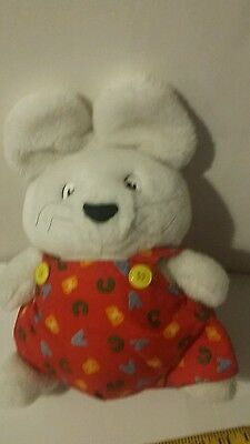 Max n Ruby Bunny Plush Red Outfit 1997 Rosemary Wells
