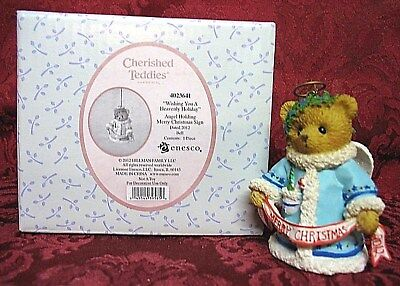 Cherished Teddies Dated 2012 Bell Ornament~Item # 4023641~Wishing You A Heavenly
