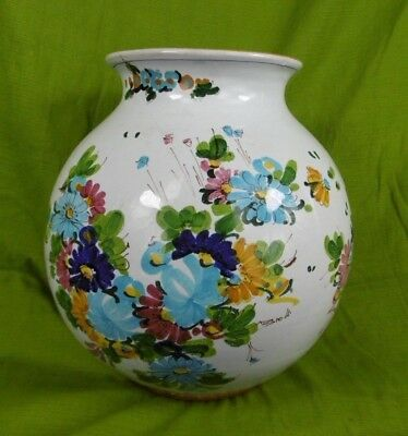 Dipinto A Mano Ceramice Vase Vaso Made In Italy Hand Painted