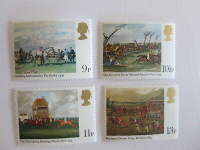 British Racing series 4 stamps MNH Derby, Grand National, Newmarket, Windsor
