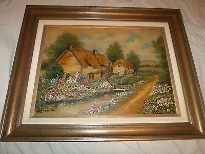 Vintage W. R. Thrasher oil on board Painting nicely framed *Worldwide*