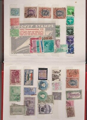 INDIA stamps 2 ALBUM PAGES LOOK CLOSE