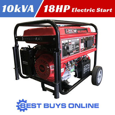 New GENERATOR 10KVA Max 8.76 KVA Rated Quiet MULTIQUIP 18HP ELECTRIC START