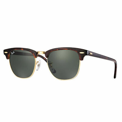 RayBan Clubmaster Classic Sunglasses - Tortoise Green Classic G-15 3016 49-21