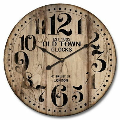 Clock French Country Vintage Inspired Wall OLD TOWN Large 60cm NEW