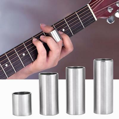 Guitar Slide Stainless Steel Finger Knuck 4 Sizes Silver for Electric Guitar