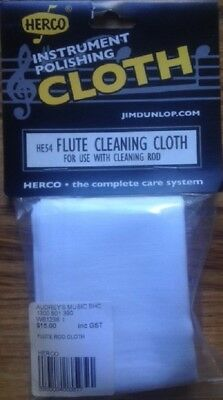 NEW HERCO Instrument Polishing Flute Cleaning Rod Cloth HE54