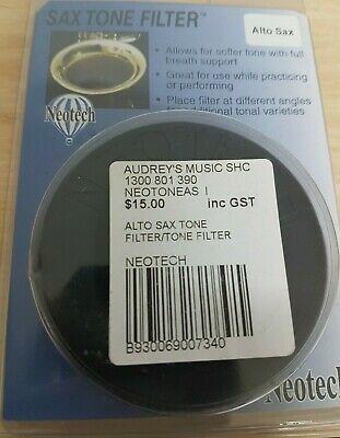 BRAND NEW IN BOX Neotech 3201002 Alto Saxophone Tone Filter Mute