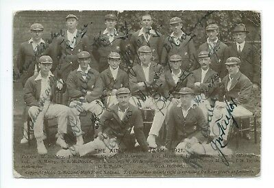 Australian Cricket Team 1921 - signed postcard