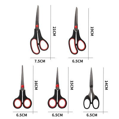 5Pc/set Stainless Steel Tailor Scissors Dressmaking Fabric Shears Sewing Cutting