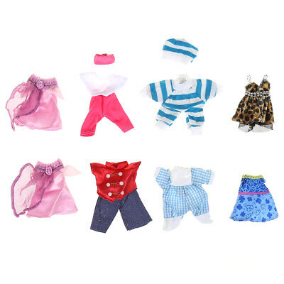 5set Cute Handmade Clothes Dress For Dolls Mini Mini  Outfit Gift HT