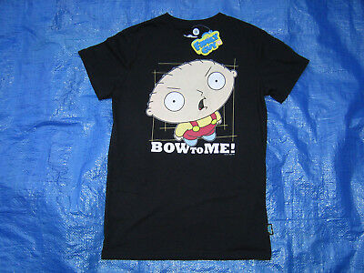 (New) Family Guy Stewie Griffin Black T-Shirt, Size Small