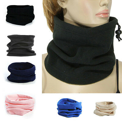 BU_ Polar Fleece Thermal Neck Warmer Gaiter Face Mask Snood Hat Scarf Winter Spo