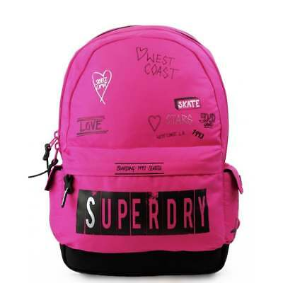 SUPERDRY Print Edition Montana Backpack - Scribble Pink Schoolbag G91008NQF1-SQ1